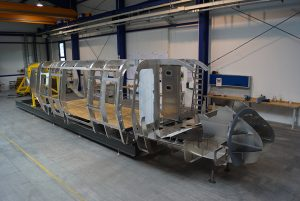 Montage Grundgerüst Hubschrauber-Trainingsgerät